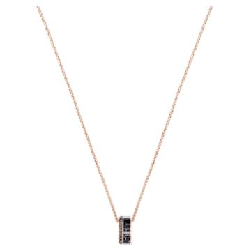 Alto Pendant, Grey, Rose-gold tone plated - Swarovski, 5427127