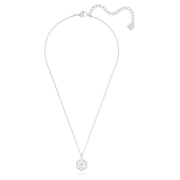 Magic pendant, Snowflake, White, Rhodium plated - Swarovski, 5428432