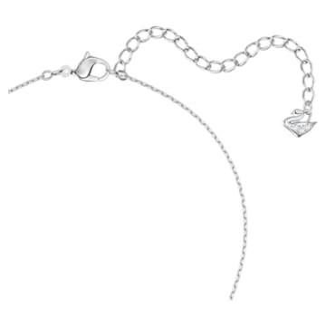 Magic 链坠, 雪花, 白色, 镀铑 - Swarovski, 5428432