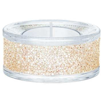 Svícen na čajovou svíčku Shimmer, zlatý odstín - Swarovski, 5428724