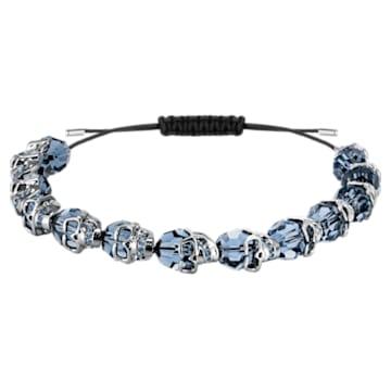 Bracelet Taddeo, bleu, Métal plaqué ruthénium - Swarovski, 5429880