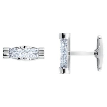 Boutons de Manchettes Crystaldust, blanc, acier inoxydable - Swarovski, 5429896