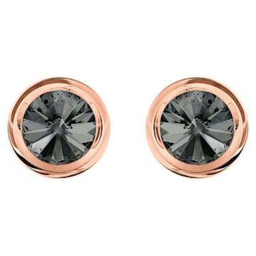 Round Manschettenknöpfe, grau, Rosé vergoldet - Swarovski, 5429900