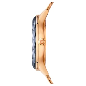 Octea Nova-horloge, Milanese armband, Zwart, Roségoudkleurig PVD - Swarovski, 5430424