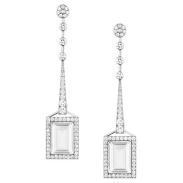 Mosaic Earrings, Swarovski Crystal & Swarovski Created Diamonds, 18K White Gold - Swarovski, 5430491