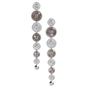 Concentric Earrings, Swarovski Crystal & Swarovski Created Diamonds, 18K White Gold - Swarovski, 5430508