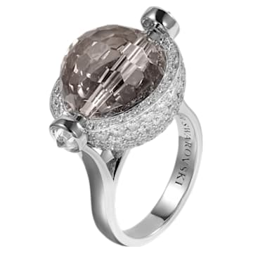 Concentric Ring, Swarovski Crystal & Swarovski Created Diamonds,18K White Gold, Size 52 - Swarovski, 5430512