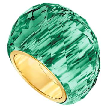 Prsten Nirvana Swarovski, zelený, pozlacený PVD - Swarovski, 5432202