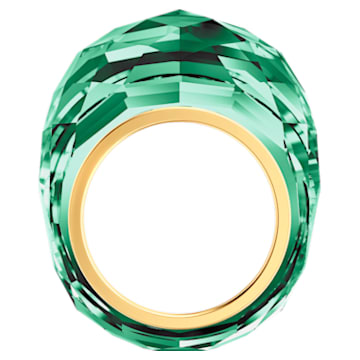 Nirvana ring, Green, Gold-tone PVD - Swarovski, 5432202