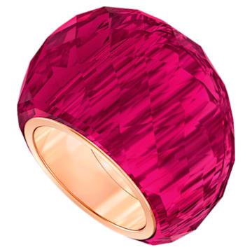 Δαχτυλίδι Swarovski Nirvana, κόκκινο, PVD σε χρυσή ροζ απόχρωση - Swarovski, 5432203