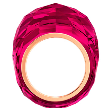 Swarovski Nirvana Ring, Red, Rose-gold tone PVD - Swarovski, 5432203