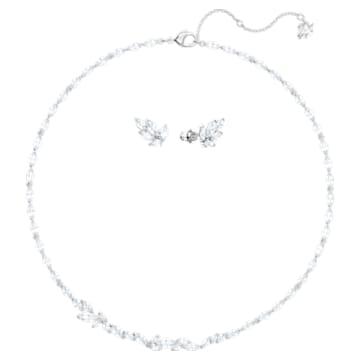 Louison 套装, 白色, 镀铑 - Swarovski, 5435164