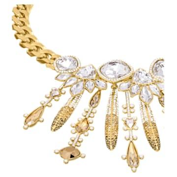 Odysseia Necklace, Multi-colored, Gold-tone plated - Swarovski, 5435555