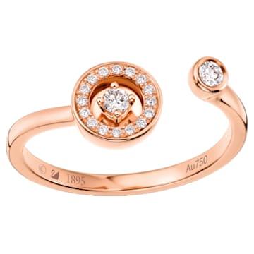 百搭新锐18K玫瑰金钻石戒指 - Swarovski, 5436237