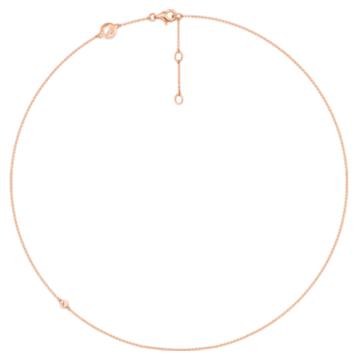 18K玫瑰金项链 - Swarovski, 5436254