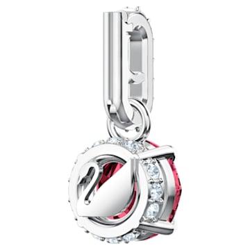 Swarovski Remix Collection Charm, 紅色, 鍍白金色 - Swarovski, 5437318
