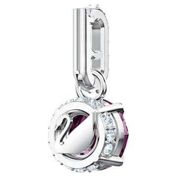Swarovski Remix Collection Charm, 二月, 紫色, 镀铑 - Swarovski, 5437323