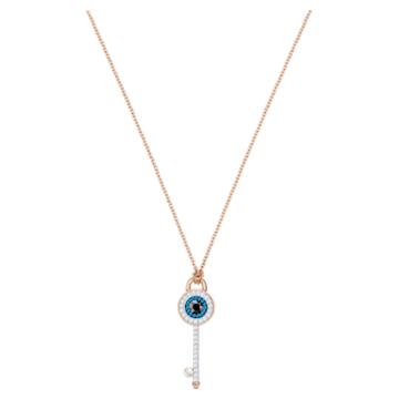 Swarovski Symbolic Evil Eye Pendant, Multi-coloured, Rose-gold tone plated - Swarovski, 5437517