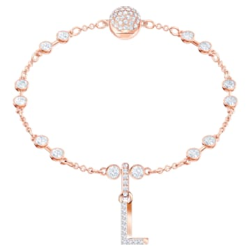 Swarovski Remix Collection Charm L, White, Rose-gold tone plated - Swarovski, 5437618
