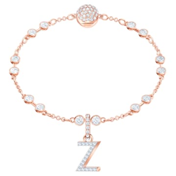 Swarovski Remix Collection Charm Z, 白色, 镀玫瑰金色调 - Swarovski, 5437627