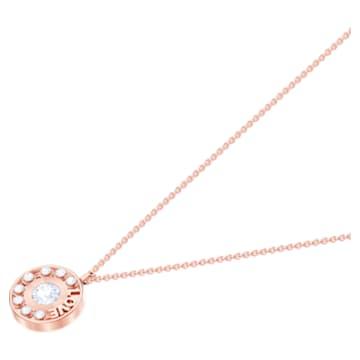 Admiration pendant, Small, White, Rose-gold tone plated - Swarovski, 5438585
