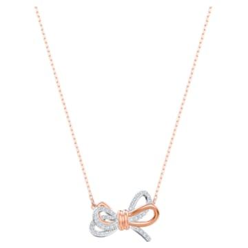 Μενταγιόν Lifelong Bow, λευκό, φινίρισμα μικτού μετάλλου - Swarovski, 5440636