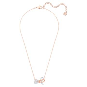 Lifelong Bow pendant, Bow, White, Mixed metal finish - Swarovski, 5440636