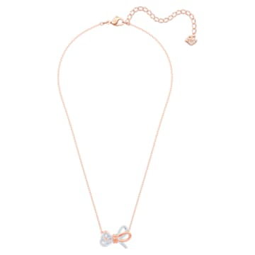 Lifelong Bow Pendant, White, Mixed metal finish - Swarovski, 5440636