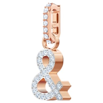 Swarovski Remix Collection & Charm, White, Rose-gold tone plated - Swarovski, 5441403