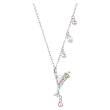 No Regrets Cocktail Pendant, Multi-colored, Rhodium plating - Swarovski, 5443012