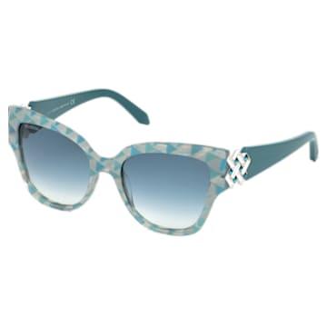 Nile Square Sunglasses, SK161-P 87P, Green - Swarovski, 5443923