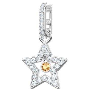 Swarovski Remix Collection Star Charm, 白色, 镀铑 - Swarovski, 5443939
