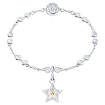 Swarovski Remix Collection Star Charm, 白色, 鍍白金色 - Swarovski, 5443939