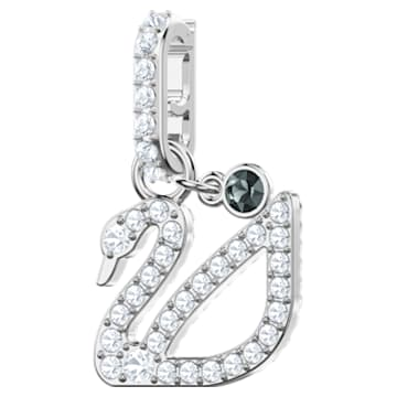 Swarovski Remix Collection Swan Charm, blanco, Baño de Rodio - Swarovski, 5443940