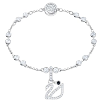Swarovski Remix Collection Swan Charm, 白色, 鍍白金色 - Swarovski, 5443940