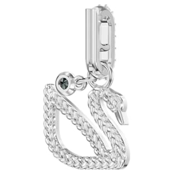 Swarovski Remix Collection Swan Charm, White, Rhodium plated - Swarovski, 5443940