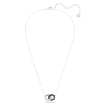 Stone 項鏈, 多色設計, 鍍白金色 - Swarovski, 5445706