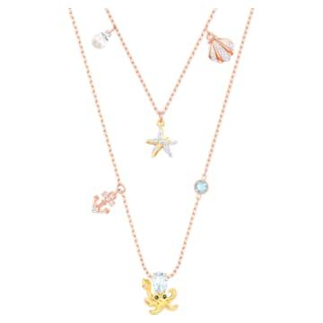 Ocean Halskette, mehrfarbig, Metallmix - Swarovski, 5446664