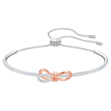 Lifelong Bow 手镯, 蝴蝶结, 白色, 多种金属润饰 - Swarovski, 5447079