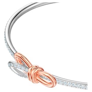Pulseira bangle Lifelong Bow, branca, acabamento em vários metais - Swarovski, 5447079