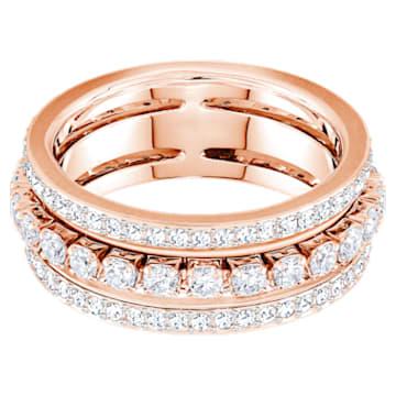 Further Ring, White, Rose-gold tone plated - Swarovski, 5448847