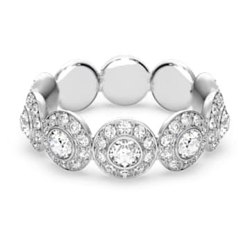 Angelic ring, Round, White, Rhodium plated - Swarovski, 5448864