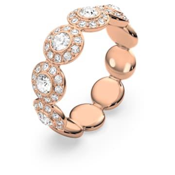 Angelic ring, Round, White, Rose gold-tone plated - Swarovski, 5448877