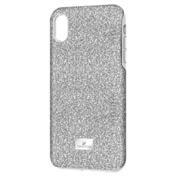 Coque rigide pour smartphone avec cadre amortisseur High, iPhone® XS Max, ton argenté - Swarovski, 5449135