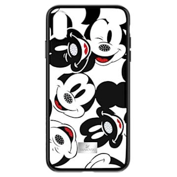Coque rigide pour smartphone avec cadre amortisseur intégré Mickey Face, iPhone® XS Max, noir - Swarovski, 5449139