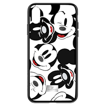 Mickey Face 智能手機防震保護套殼, iPhone® XS Max, 黑色 - Swarovski, 5449139