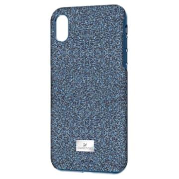High smartphone case , iPhone® XR, Blue - Swarovski, 5449141