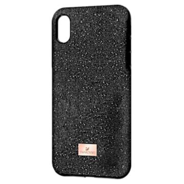 Coque rigide pour smartphone avec cadre amortisseur High, iPhone® XS Max, noir - Swarovski, 5449152