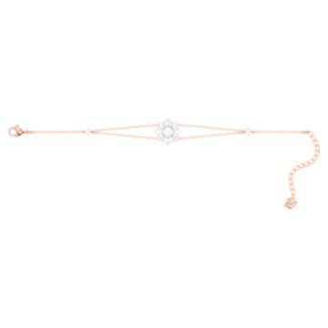Pulsera Sunshine, blanco, Baño en tono Oro Rosa - Swarovski, 5451357