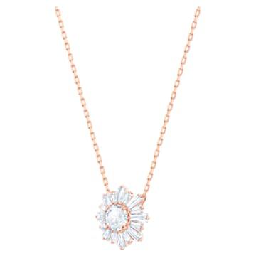 Sunshine 链坠, 白色, 镀玫瑰金色调 - Swarovski, 5451376